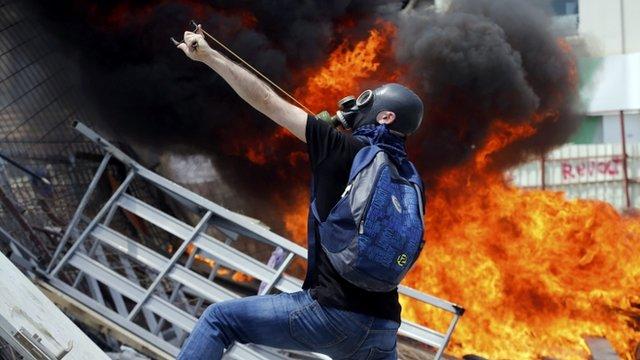 Turkish protester