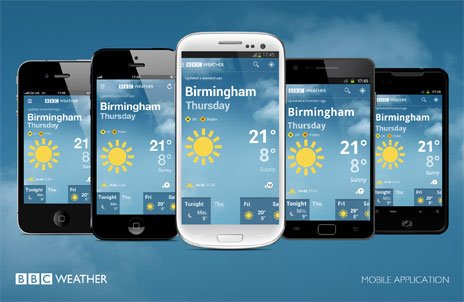 The BBC Weather app
