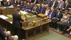 David Cameron at the despatch box