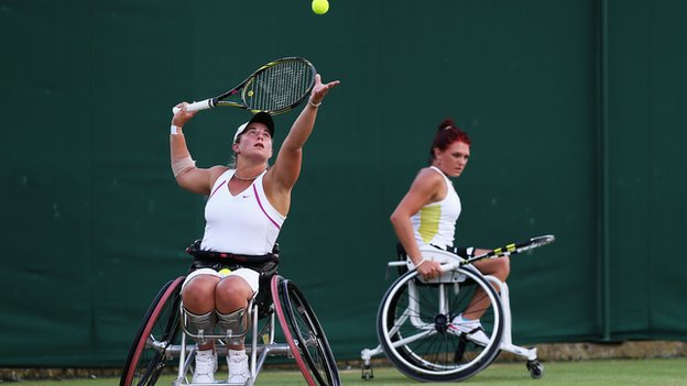 Lucy Shuker and Jordanne Whiley played together at Wimbledon last year