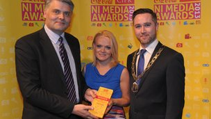 Claire Savage picks up her CIPR NI award