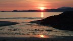 Sunset at Mallaig, west coast of Scotland.