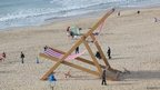 A giant deckchair on Bournemouth beach