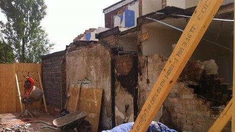 Newark explosion site