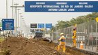 Roadworks near the Antonio Carlos Jobim International Airport, Rio de Janeiro