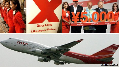 Air Asia X and Oasis airlines