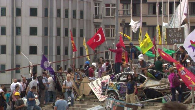 Protestors in Istanbul