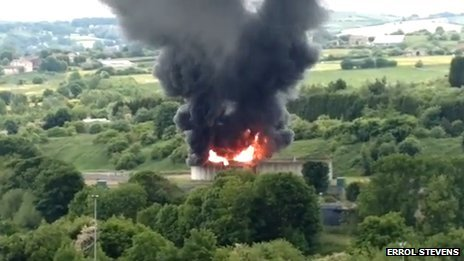 Fire at water treatment plant in Heckmondwike