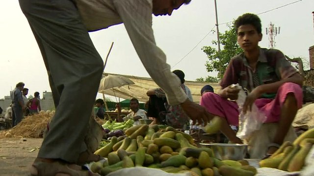 Food being sold on street