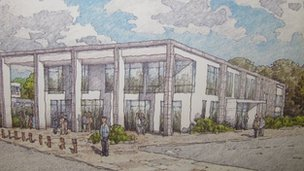 Artist impression of revamped school