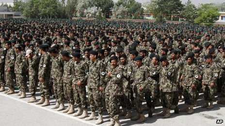 Afghan Army recruits (May 2013)