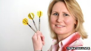 Female World Darts Champion Trina Gulliver, MBE