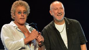 Townshend and Daltrey