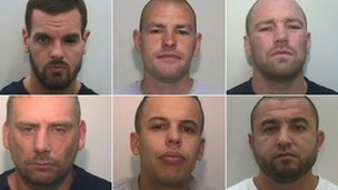 Top: Dale Cregan, Anthony Wilkinson, Luke Livesey - Bottom: Damian Gorman, Jermaine Ward, Mohammed Ali