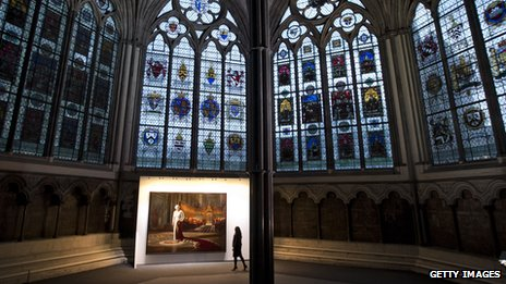 Ralph Heimans picture in Westminster Abbey