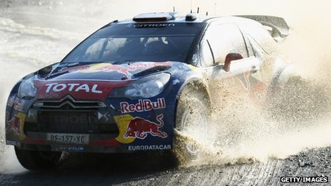 Sebastien Loeb at Ponterwyd, Ceredigion, on day three of the race