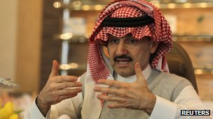 Saudi Arabia's Prince Alwaleed