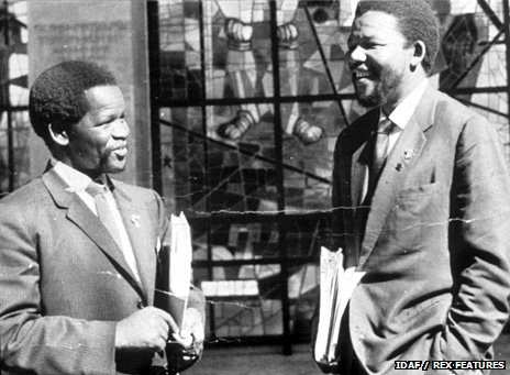 Nelson Mandela with Oliver Tambo in Addis Ababa, in 1962