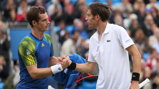 Andy Murray and Nicolas Mahut