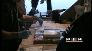Drugs seized by UK Border Agency staff on The Louise in Southampton