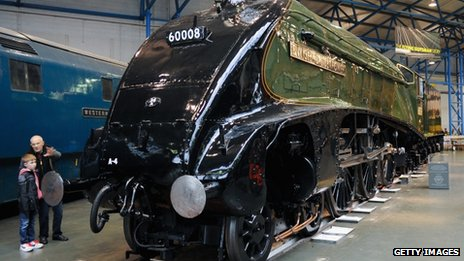 A locomotive inside the National Railway Museum