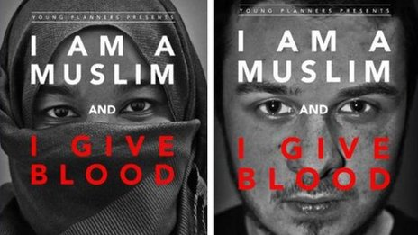 Poster campaign for I Am A Muslim And I Give Blood