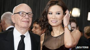 Rupert Murdoch and Wendi Deng at the Oscars in Los Angeles, California, February 2013