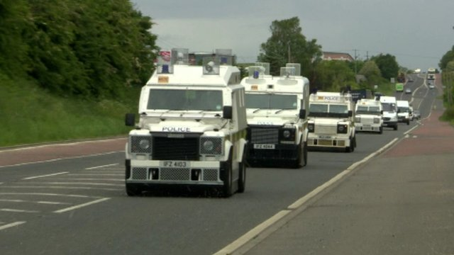 Police arrive in Northern Ireland