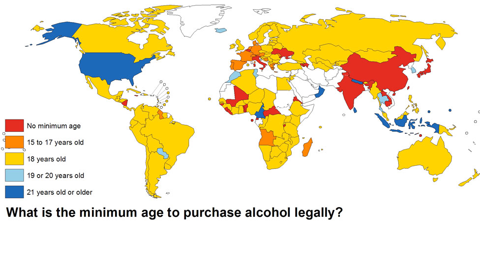 Alcohol Drinking Ages Around The World