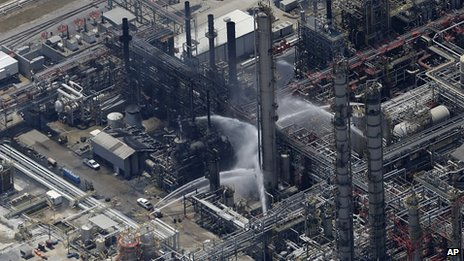 Fire at Williams Olefins chemical plant in Geismar