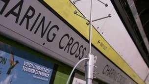 Gases being released at Charing Cross station