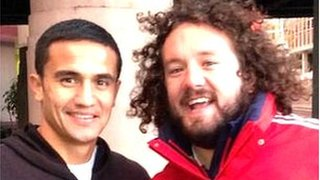 Tim Cahill and Adam Jones