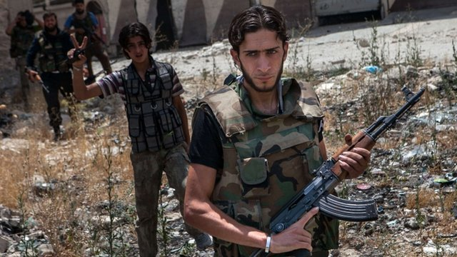 Syrian rebel fighters