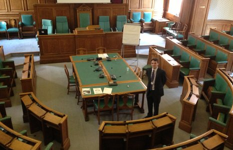 The main council chamber in Lincolnshire