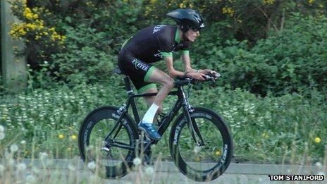 Tom Staniford cycling