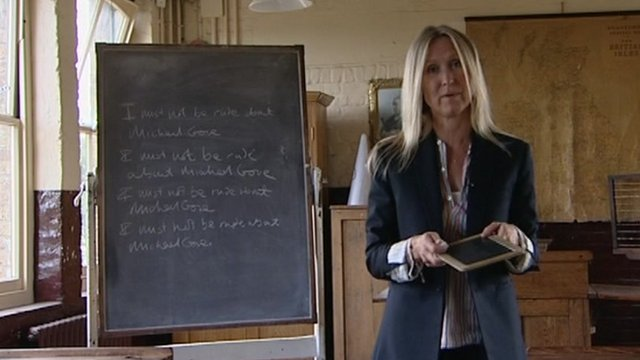 Fiona Millar in the classroom