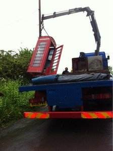 phone box on hoist