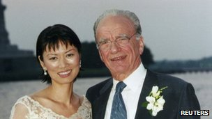 Wendi Deng and Rupert Murdoch on their wedding day