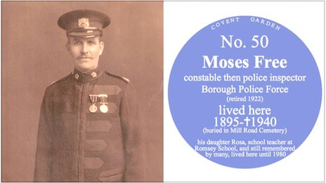 Moses Free and a 'blue plaque'