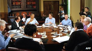 G8 leaders meeting at the 2012 Camp David summit