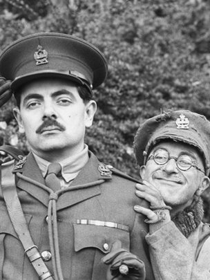 Rowan Atkinson and Tony Robinson