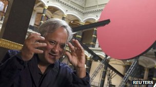 Anish Kapoor at an exhibition of his work in Berlin
