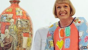 Grayson Perry who received a CBE