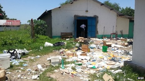 MSF hospital in Pibor, South Sudan, which was looted in recent fighting