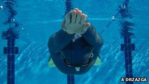 Free-diver Adam Drzazga