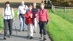 Walkers in Herefordshire