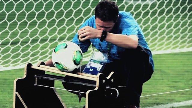 GoalControl test goal-line technology