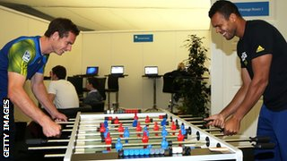 Andy Murray v Jo-Wilfried Tsonga at table football