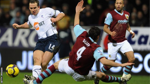 Burnley play Bolton at Turf Moor in January 2010
