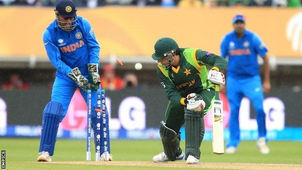 Misbah-ul-Haq is bowled